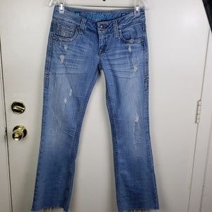 Sang Real distressed straight leg jeans